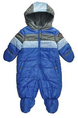 Rothschild Infant Boys Blue & Gray Bubble Pram/Snowsuit Size 3/6M 6/9M -