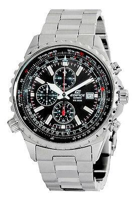 Casio Edifice EF527D-1AV Men's Stainless Steel Black Dial Chronograph Watch