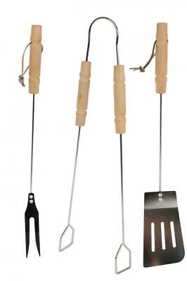 BBQ Collection Outdoor Cooking Barbecue Tong Fork Turner Utensil Tool Set