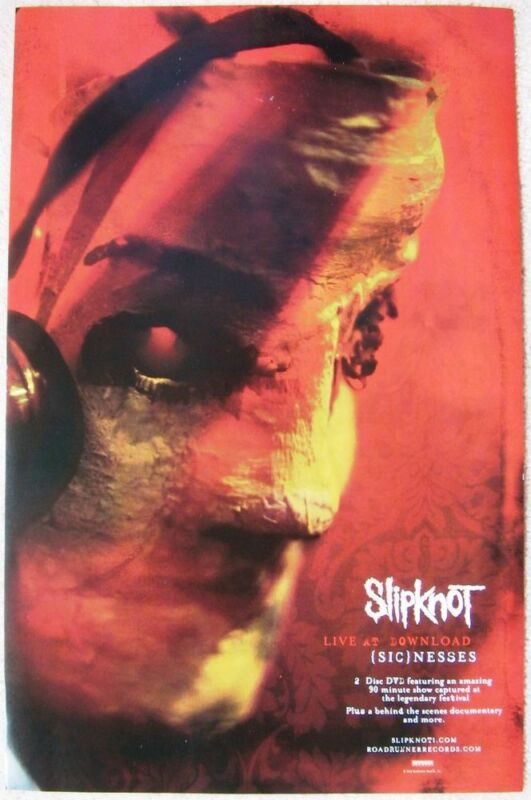 SLIPKNOT Live At Download (Sic)nesses POSTER 2-Sided