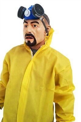 Breaking Bad Kostüm HEISENBERG Walter White Overall Gasmaske Handschuhe - Walter White Heisenberg Kostüm