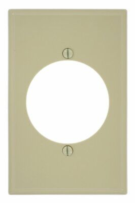 Leviton 1-Gang Flush Mount 2.15-Inch Diameter, Device Receptacle Wallplate Ivory Gang Flush Mount