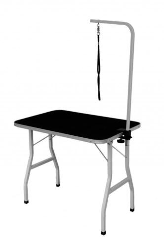 """New Quality 32"""" Large Portable Adjustable Pet Dog Grooming Table w/ Arm / Noose"""