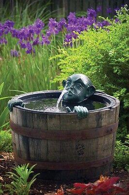 Aquascape Man in Barrel Spitter w Pump Garden