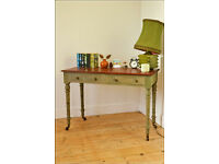 antique table desk latop table hall console table kitchen table shabby chic victorian on castors