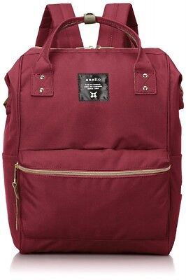 New anello Polycan Backpack Large Size AT-B0193A WI Wine Free Shipping EMS Japan