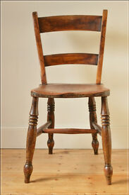 vintage chair dining kitchen cricket solid wood farmhouse