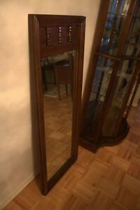 Heavy, carved solid wood mirror - Antique