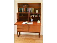 vintage bureau desk teak Europa Furniture sideboard danish design