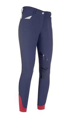 """HKM Softshell winter Breeches Performance with Silicone Knee Patch NAVY 36"""" (02)"""