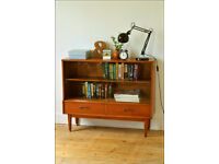 sideboard bookcase teak danish design display vintage Jentique Furniture