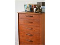 vintage chest of drawers mid century Austin Suite teak danish design tallboy