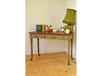 vintage table desk latop table hall console table kitchen table shabby chic victorian on castors