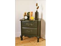 vintage bedside cabinet bedside drawers bedside table shabby chic black