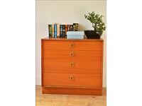 vintage chest of drawers mid century genuine G Plan teak danish design