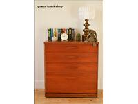 vintage chest of drawers Austin Suite mid century teak danish design lowboy