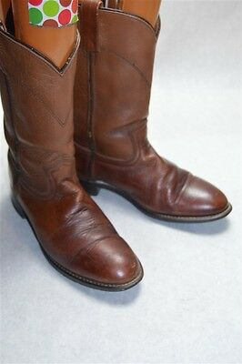 Acme Brown Leather Vintage 8 D Men's Western Boots