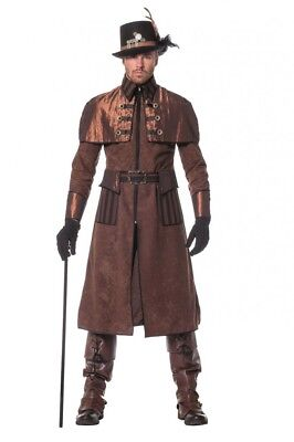 Steampunk Herren Mantel Braun/Schwarz Kostüm Jacke viktorianisch hochwertig