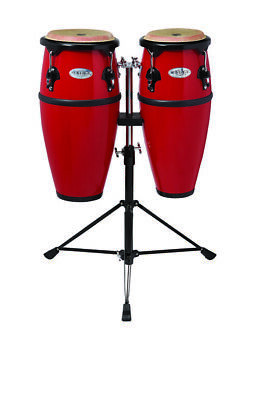 Toca Synergy Fiberglass Double Conga Set With Stand - 8 And 9 Inches - Red - $219.99