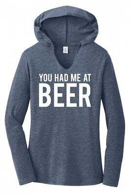 St Patty's Day Shirts (You Had Me At Beer Ladies Hoodie T-Shirt Alcohol St Patty's Day Gift Tee)