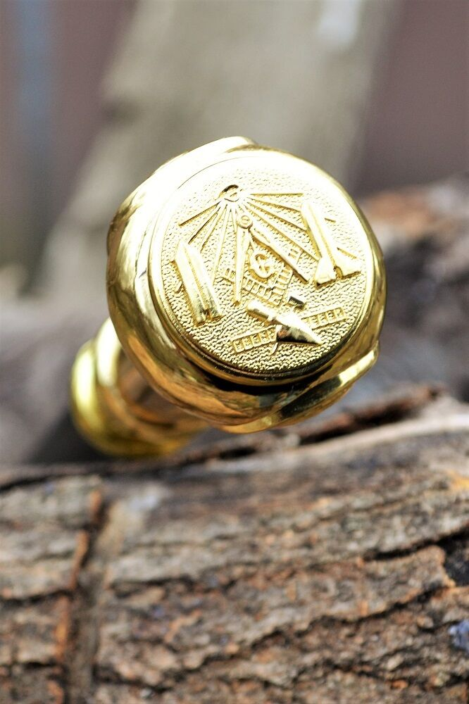 Masonic Segmented Walking Stick Cane - Freemasons - Mason - Square and Compasses