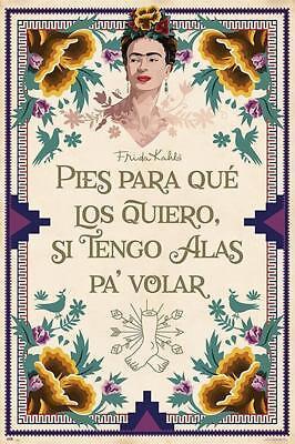 Frida Kahlo Poster Plakat Kunstdruck Pies para qué los quiero.. 61 x 91,5 cm