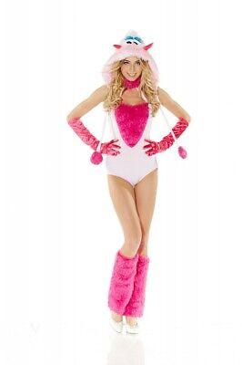 Sexy Kostüm MONSTER ROSA/PINK BODY Gr. S/M Fellkostüm Verkleidung - Rosa Damen Kostüm