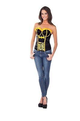 Batgirl Adult Womens Corset HALLOWEEN Accessory Cute Outfit COSPLAY Superhero (Cute Batgirl Costumes)
