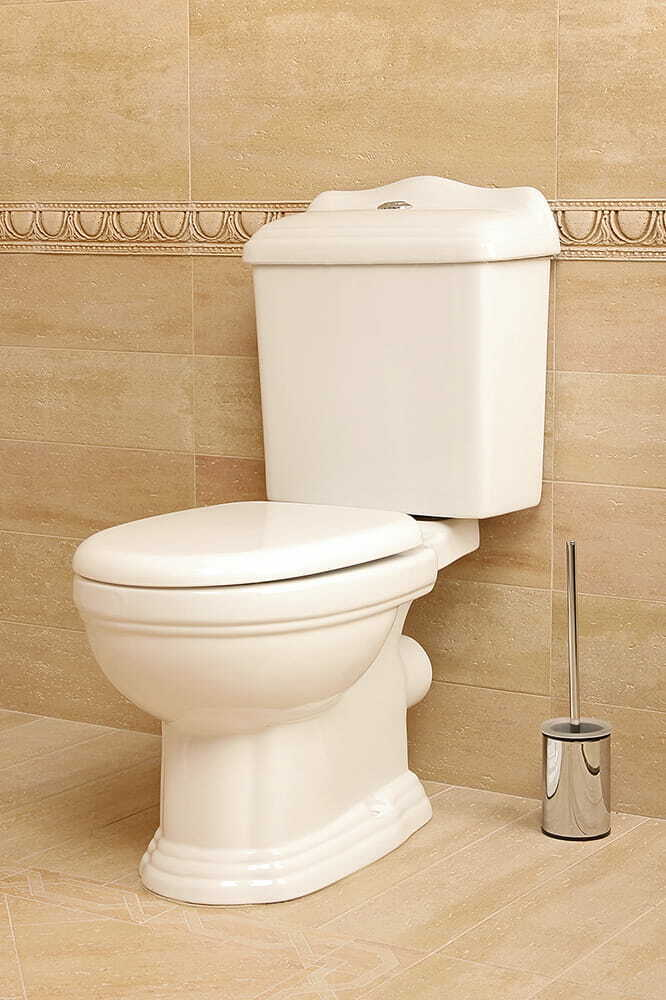 NOSTALGIE RETRO WEISS STAND-WC BODENSTEHEND BODEN-WC SOFT-CLOSE WC-SITZ