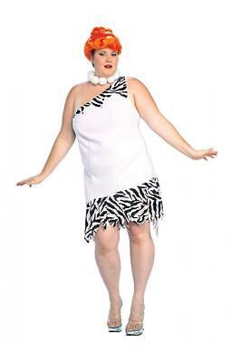 The Flintstones, Wilma Flinstone, Adult Plus Size Costume And Wig Plus, White - Wilma Kostüm Flinstones