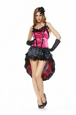 Sexy Kostüm SALOON-GIRL PINK Fasching Karneval Gr. 34-38 Burlesque Can Can Damen