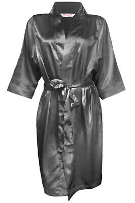 Children's Charcoal Grey Flower Girl Satin Special Occasion Robe (Charcoal Flower Girl Dresses)