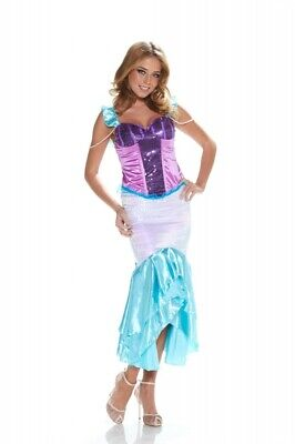 Pailletten-Kostüm MEERJUNGFRAU Gr. XS Mermaid Arielle Verkleidung Karneval ()
