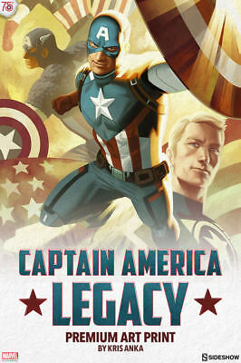 SIDESHOW CAPTAIN AMERICA LEGACY PREMIUM ART PRINT - LOWEST PRICE ON EBAY UK](Lowest Price Print)