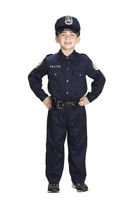 Aeromax Jr. Police Officer Suit, Size 6/8 with police cap,badge, and belt to...