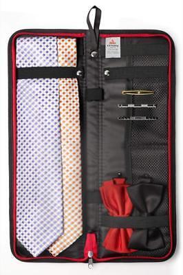 Travel Essentials Travel Tie Case, Black  Cuff Link / Tie Cl