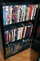 DVD collection and a few Blu-rays