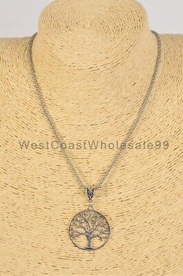 Tree of Life Pendant Fashion Necklace Costume Jewelry Wholesale 18in USA Costume Fashion Jewelry Necklace