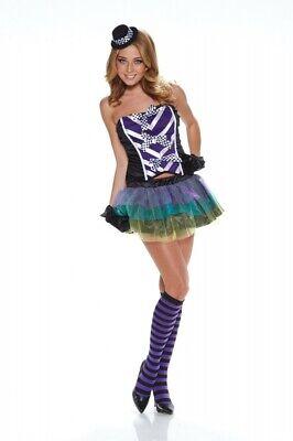 Damen Kostüm HUTMACHER PETTICOAT Alice im Wunderland Gr. 36/38 Mad - Mad Alice Im Wunderland Kostüm