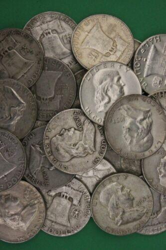 90% Silver Franklin Half Dollar (1948-1963) - Avg. Circulated Condition