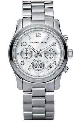 Michael Kors Ladies' Runway Chronograph Ma of Pearl Designer Watch MK5304