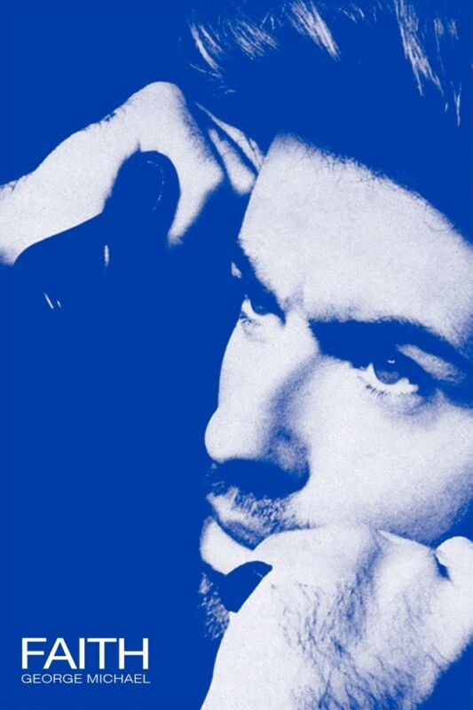 GEORGE MICHAEL FAITH  24X36 POSTER ~ LAST ONE