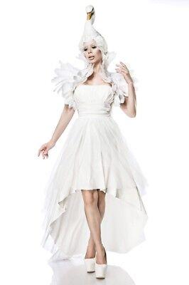 Travestimento originale carnevale donna cigno bianco abito completo new uy 80062