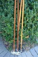 3 paires de batons de ski de fond 145 cm