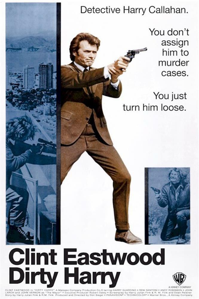 Dirty Harry Movie Clint Eastwood Clasic Giant Wall Art Poster Print