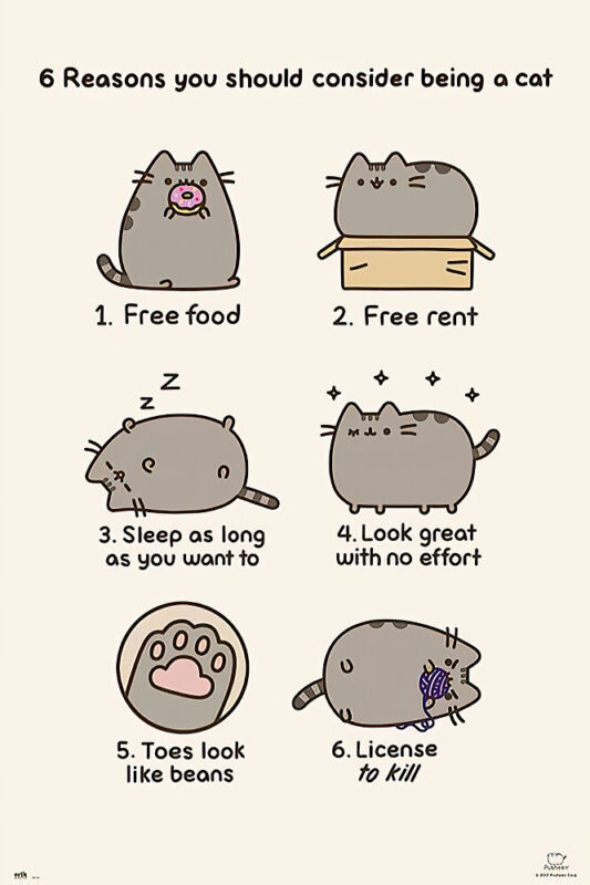Pusheen The Cat - Poster / Print (6 Reasons You Should Consider Being A Cat)