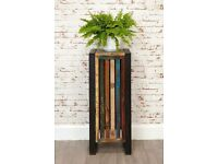 Java Industrial Tall Plant Stand / Lamp Table