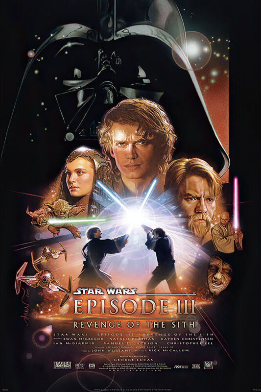 STAR WARS: EPISODE III - REVENGE OF THE SITH - MOVIE POSTER (REGULAR) (24 x 36)