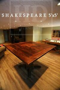 Reclaimed Wood Pedestal Tables Heavy Duty