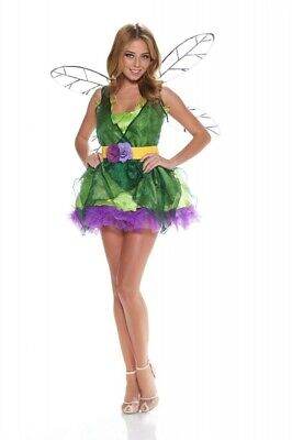 Damen Kostüm SEXY FEE GRÜN/LILA Pixie Fairy Verkleidung Karneval Fasching